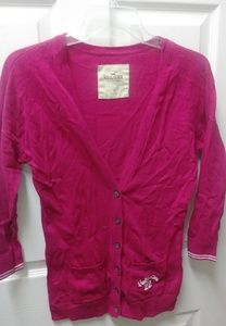 Nice magenta hot pink cardigan Hollister sweater